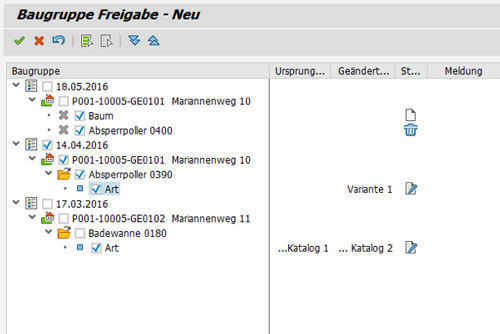 easysquare Mobile Bestandsfreigabe: Freigabedialog in SAP®