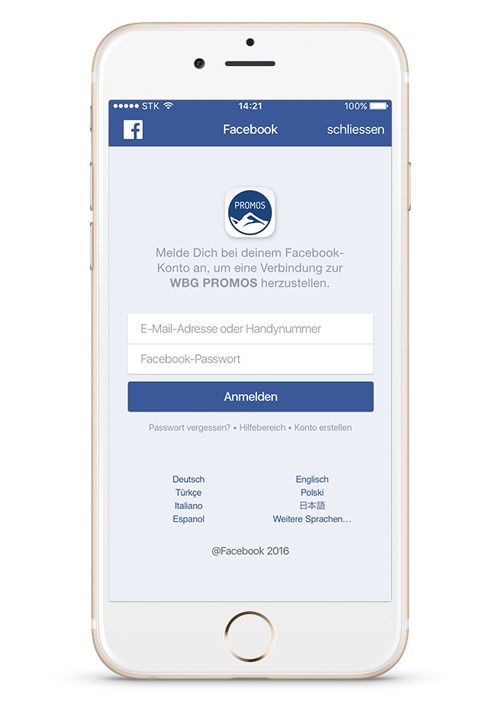 Facebook Login in der easysquare Mieter-App